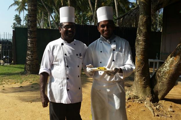 Das Kochteam lässt gute Energie ins Essen einfließen.